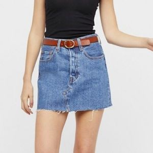 Levi's Deconstructed Denim Skirt NWT